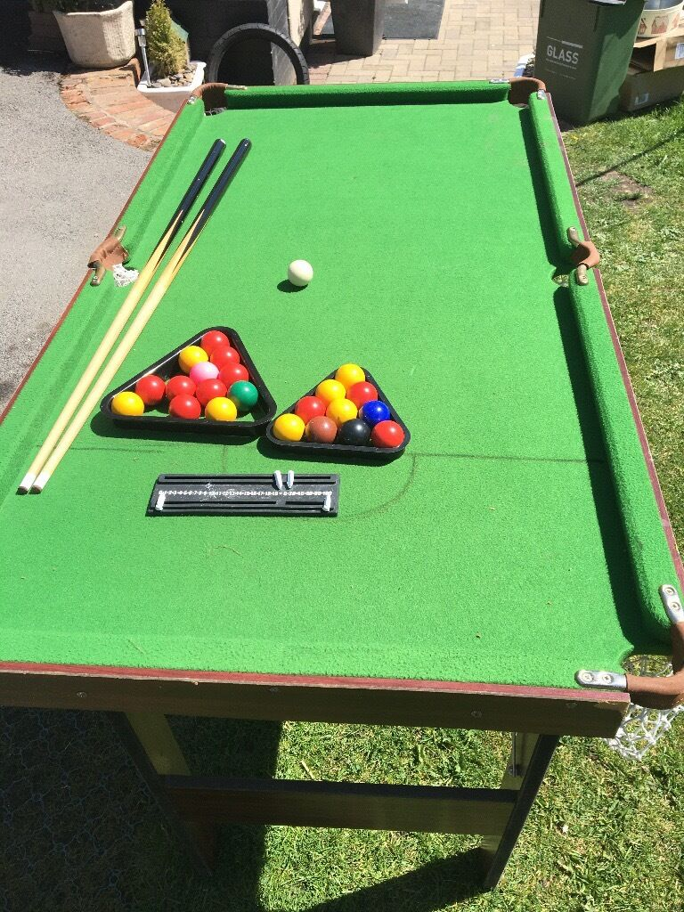 Snooker/Pool Table Child Size Folding   Huncote