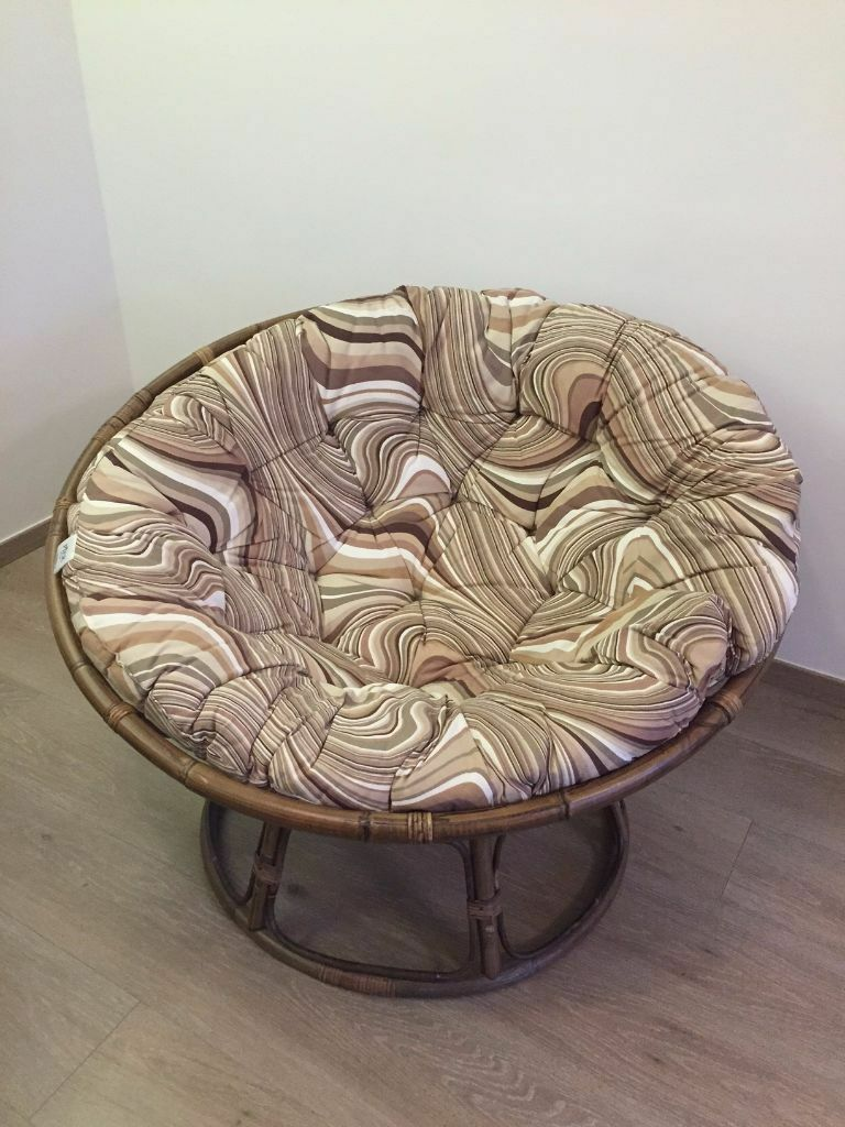Moon Chair/ Papasan Chair/Rattan Chair/Bowl Chair   Brown Great Condition