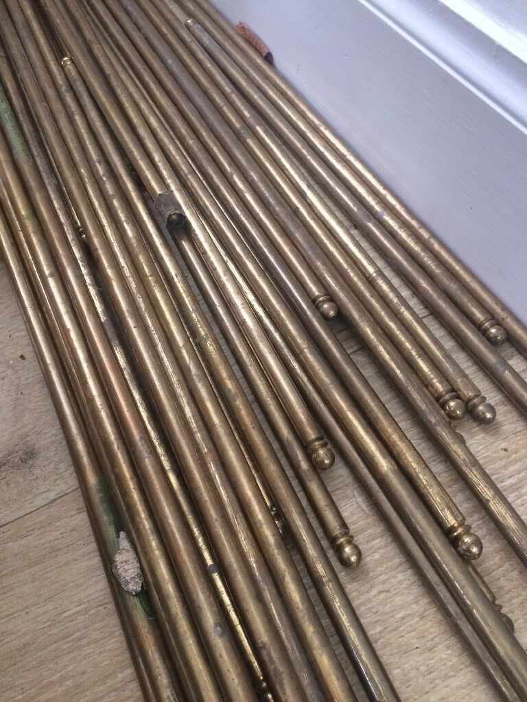 Brass Carpet Stair Rods With Fittings