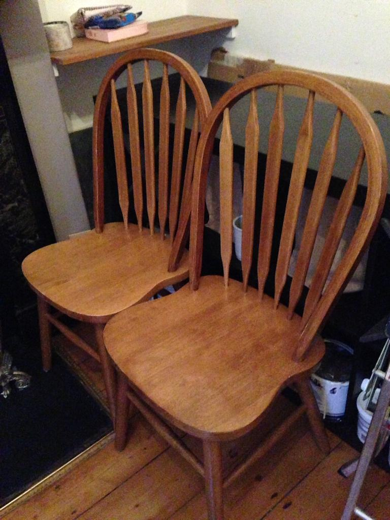 Beautiful Vintage Wooden Dining Chairs