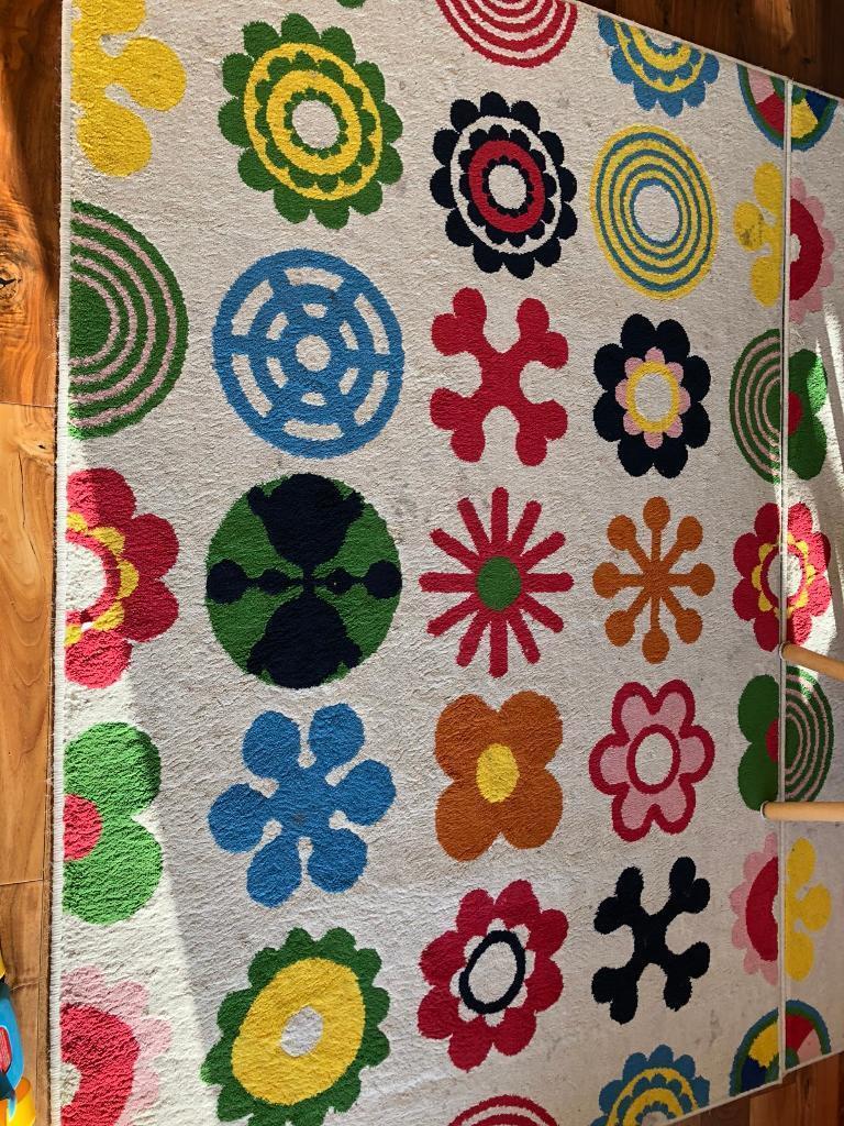 Ikea Lusy Blom Kids Room Flower Rug X2