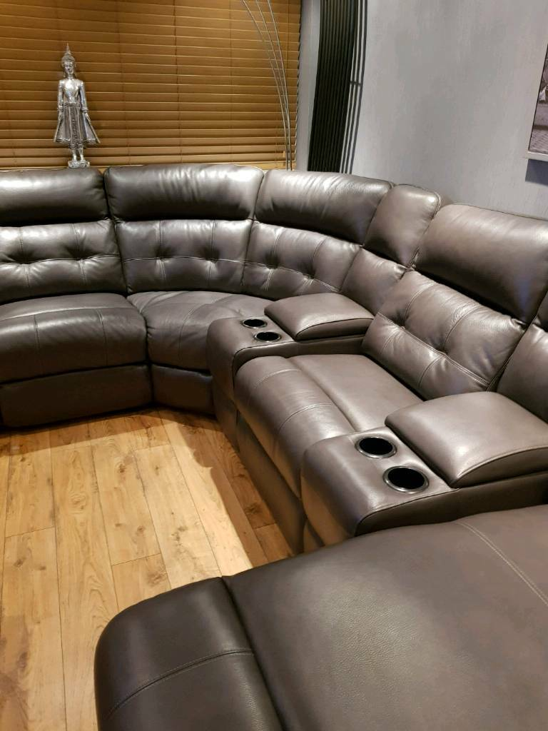 Etonnant CORNER CINEMA SOFA GREY