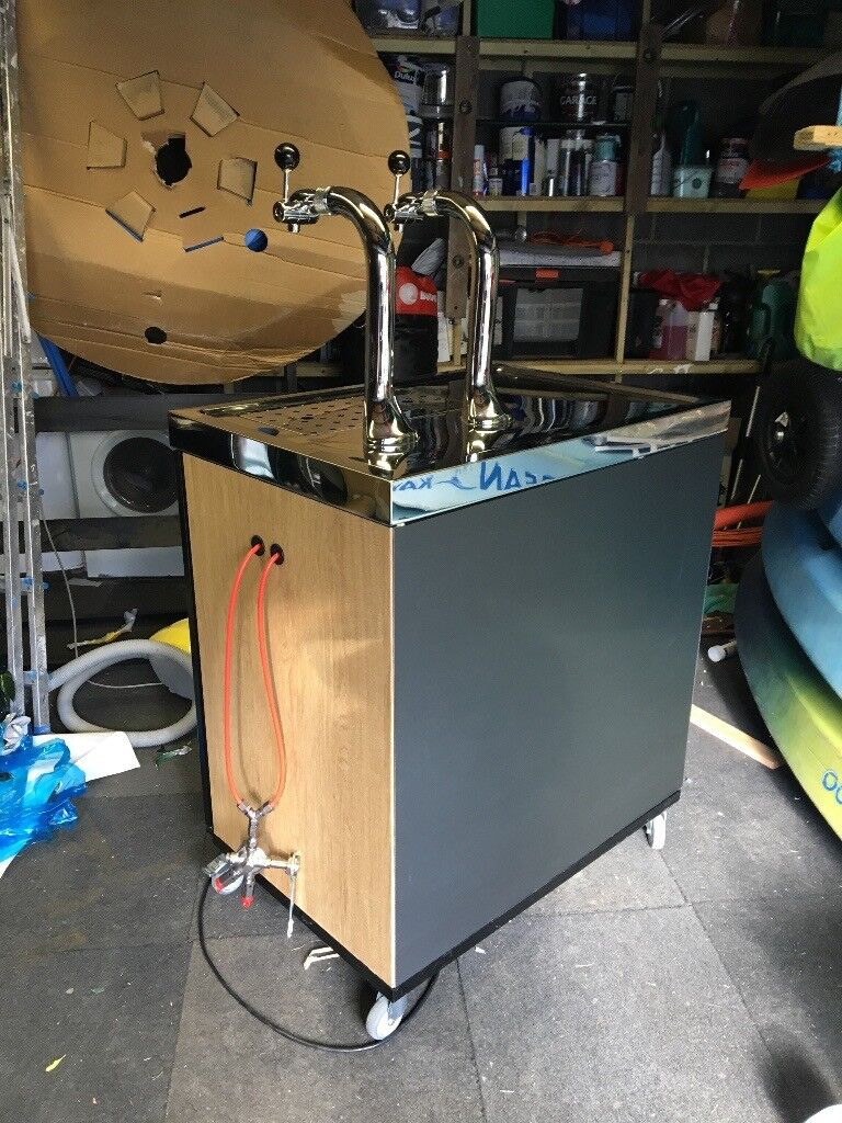 Mobile Bar And Integrated Kegerator Double Taps   Portable Beer Dispenser