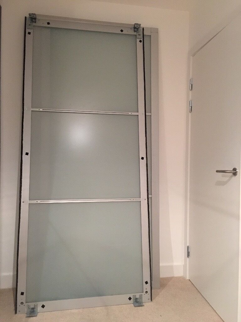 ikea pax sliding doors frosted