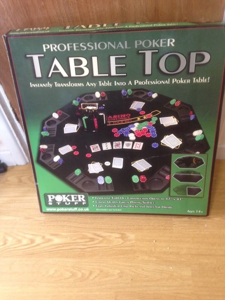New Professional Poker Table Top