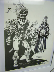 Kevin-Siembieda-print-11-Fiendish-Beings-with-original-illustration-signed