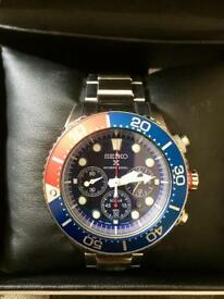 Seiko Divers Watch 200 meter Solar power chronograph military