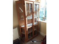 """IKEA """"Nyliden"""" Wood/Glass display cabinet. Disassembled for easy transport"""