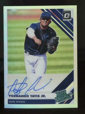 2019 Panini Donruss Optic Silver Prizm Fernando Tatis Jr Auto RC Rookie
