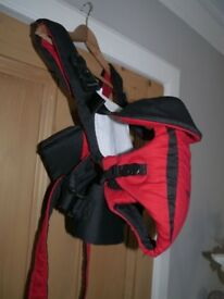 TOMY Freestyle Premier Red & Black Baby Carrier