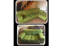 FOR SALE LEATHER SOFA CORNER + 2 SEATER SOFA!!!VERY GOOD CONDITION!
