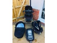 iCandy stroller & carrycot + car seat & isofix base