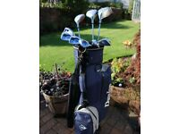 Complete Set of Ladies Dunlop 65i clubs with Graphite Shafts.