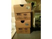 2pairs ugg slippers brand new boxed. size small 3/4