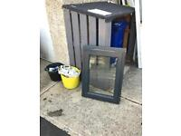 Aluminium double glazed grey window