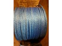 10 m of blue rope not on real see photographs