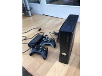 XBOX 360 (250GB) with Kinect and 12 Games