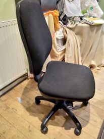 Clearance Upholstered Office Adjustable Chair Black
