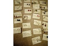 25 pairs of costume jewellery earrings