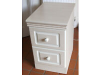 Bedside cabinet with 2 draws