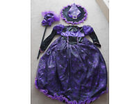 Purple/Black Spooked Witch Halloween Dress - Age 9-10 140 cm