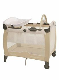 Graco Travel Cot with Napper + matress + bedding. Top quality and in excellent condition.