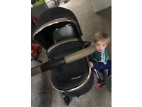 Mothercare orb pushchair black and rose gold