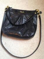 Authentic Coach Black Leather Crossbody