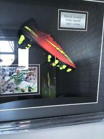 Henrik Larsson signed football boot