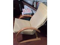 IKEA POANG 2 CREAM LEATHER CHAIRS
