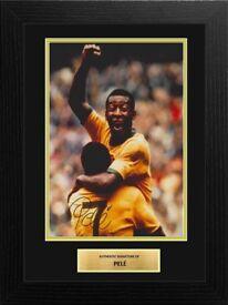 Pele Brazil Football Legend Framed 12x8 Signed Photo Display COA