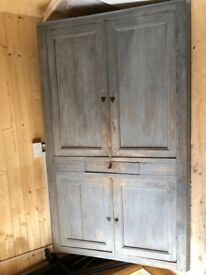Antique French Corner Cupboard