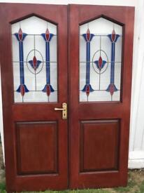 Solid mahogany doors