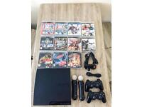 Sony PS3 320GB, 10 games and controllers