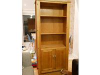 Next solid wood bookcase / cabinet