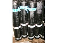 ROOF FELT FOR SHEDS AND FLAT ROOFS NON RIP 4MM PLAIN BLACK FINISH TORCH ON OR NAIL