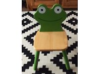 Wooden frog chair excellent clean condition
