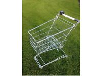60 LITRE SHOPPING TROLLEYS AS NEW C/W COIN HOLDER