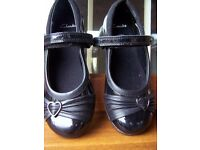 Brand new girls Clarks shoes and also a brand new pair of Asda trainers size 11.