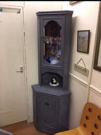 Upcycled corner cabinet