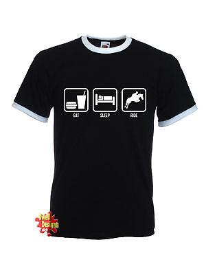 EAT SLEEP RIDE horse riding equestrian T Shirt
