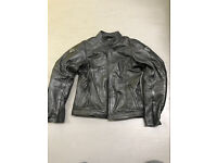 Women's leather motorbike jacket