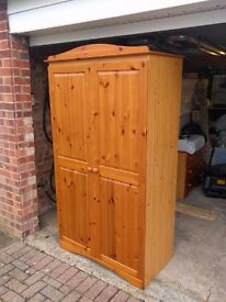 Pine Wardrobe and Chest of Drawers