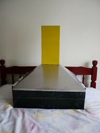 New unused stainless steel cooker extractor hood and chimney