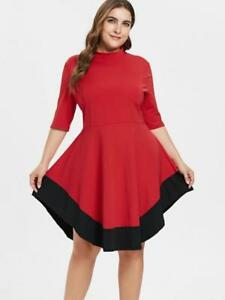 Plus size women's dresses, skirts