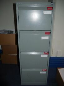 One four drawer BISLEY foolscap filing cabinet- all drawers are operational