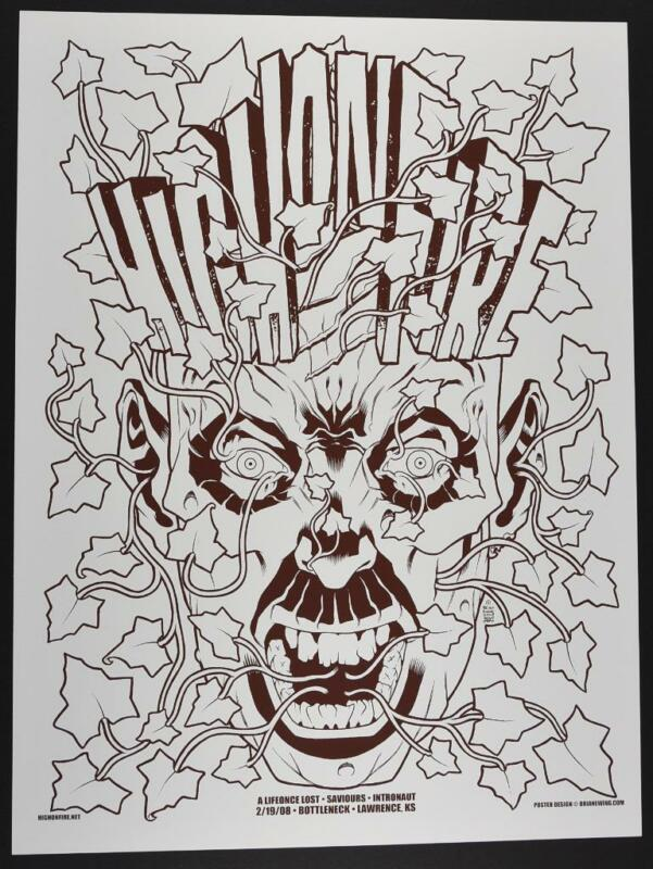 High on Fire Concert Poster Brian Ewing Art Print Silkscreen 2008 BLACKLINE