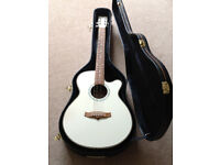Tanglewood electro acoustic folk size guitar with hard case