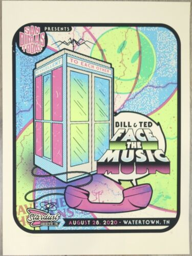 2020 Bill & Ted Face The Music - Silkscreen Movie Poster A/P by Andy Vastagh