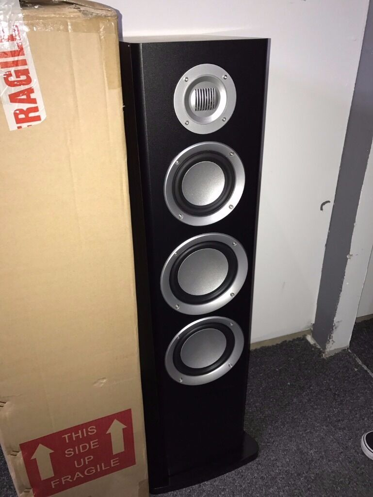 2 X Ma Audio Speakers Floor Standing Brand New With Stand